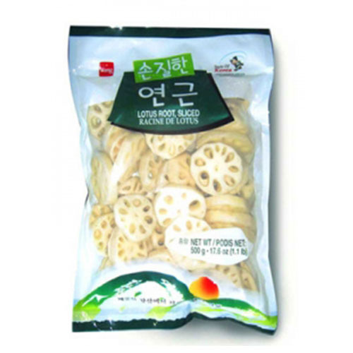 WANG FZN LOTUS ROOT,SLICED 냉동연근 500g   11777