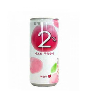 LOTTE DRINK2% PEACH 이프로 복숭아 캔 240ml   LCD09