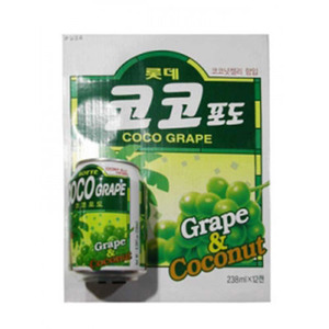 LOTTE GRAPE DRINK(COCO-PODO)코코 포도 238ml   LCD14