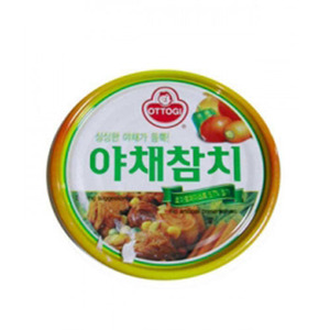 OTTOGI CANNED TUNA-VEGETABLE 야채참치 150g   04297