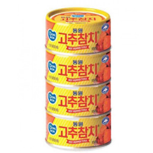 DONGWON CANNED TUNA고추참치 번들 600g   DW142