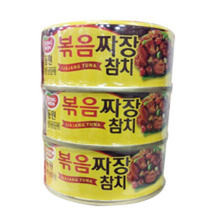 DONGWON CANNED TUNA IN BLACK BEAN SAUCE 볶음짜장참치300g    DW148