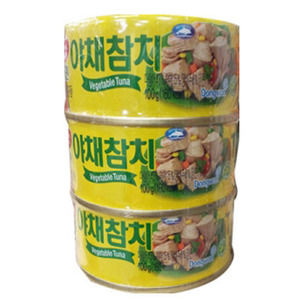 DONGWON CANNED TUNA IN VEGETABLE BROTH AND OIL 야채참치300g  DW146