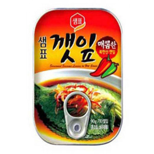 SEMPIO CANNED PERILLA-LEAVES HOT 깻잎 70g   SP056